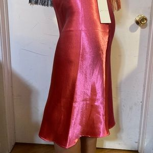 NWT bright pink Leith maxi skirt